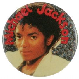 Michael Jackson - 'Young Michael White Jacket' Button Badge
